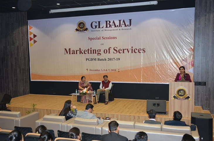 An Interactive Sessions on Marketing of Services @ GLBIMR